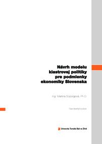 15c0b279e2f4 Návrh modelu klastrovej politiky pre podmienky ekonomiky Slovenska
